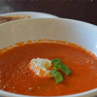 Homemade Tomato Soup from the Garden with your Crock Pot.