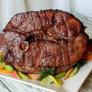 Whole Ham Glazed With Red Wine and Spices.