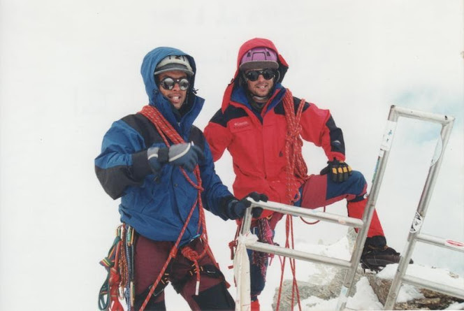 Manu e eu no cume do Mont Blanc du Tacul