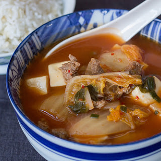 Kimchi, Beef & Tofu Soup