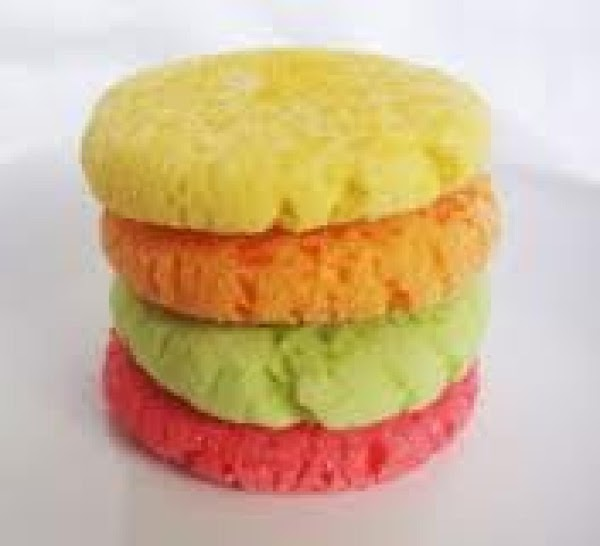 Mix together butter, dry Jell-o powder and vanilla and then add flour, baking powder...