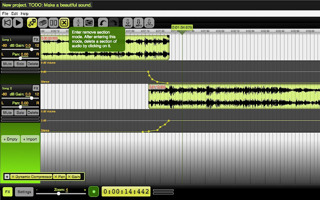 Beautiful Audio Editor