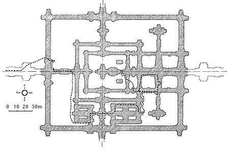 Схема храма Бенг Мелиа, Ангкор