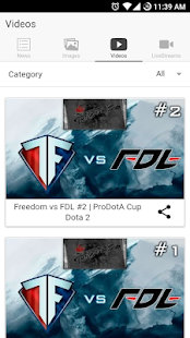 Dotafreak: Aggregator for DotA- screenshot thumbnail
