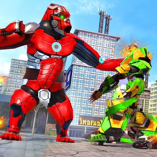 Baixar Police Gorilla Robot Hero Transform: City Rampage para Android