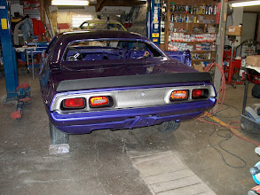 Photo: shaving the bumper guards off and filling in the valance panel and sucking in the rear bumper made the '73 look a ton better
