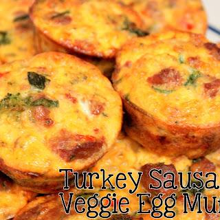 Turkey Sausage and Veggie Egg Muffins