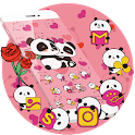 Pink Panda Cute Icons icon