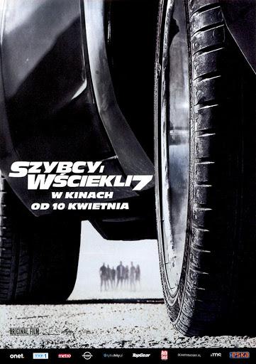Przód ulotki filmu 'Szybcy i Wściekli 7'