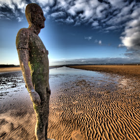 Anthony Gormley's 'Another Place' by Garry Fenton - Landscapes Beaches