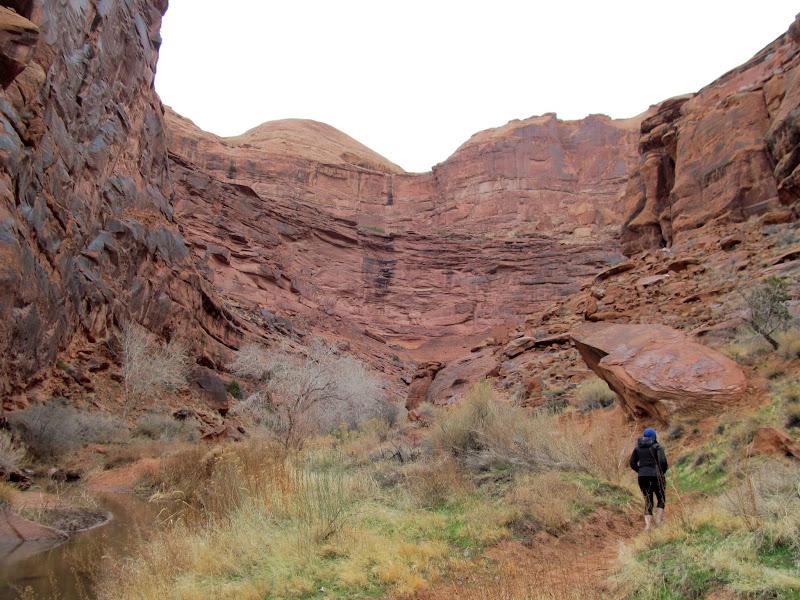 Photo: Starting up Hunter Canyon