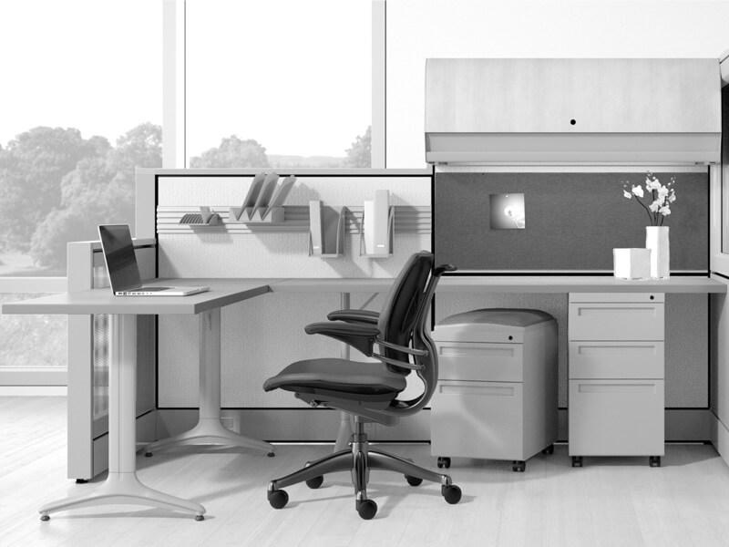thiết kế văn phòng làm việc sạch sẽ