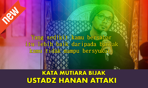 Kata Kata Mutiara Bijak Ustadz Hanan Attaki - náhled