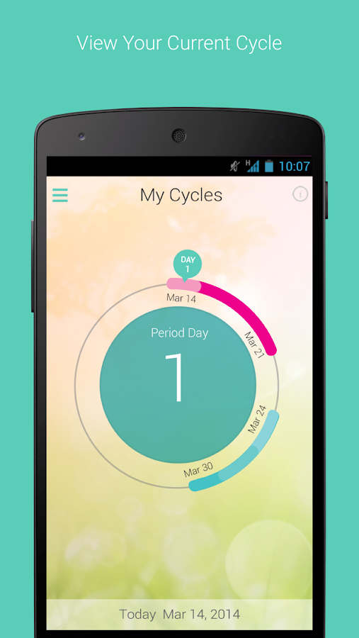 My Cycles Period and Ovulation- screenshot