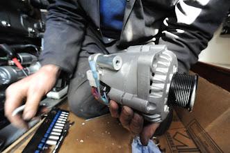 Photo: New alternator with serpentinepulleyalreadyattached.  www.electromaax.com
