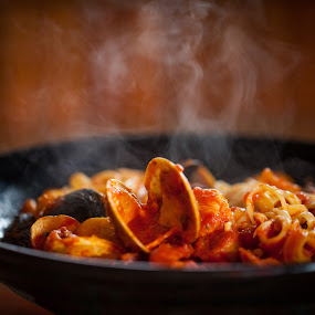 Zuppa di Pesce by Jim DeMicco - Food & Drink Plated Food ( clams, tomato sauce, mussels, disk, macaroni, steam )