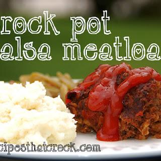 Crockpot Salsa Meatloaf.