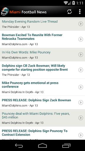 Miami Football News