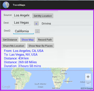 Travel Map - náhled