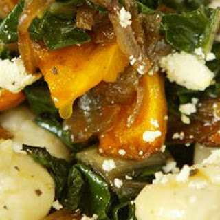 Gnocchi With Roast Pumpkin, Onions And Feta.