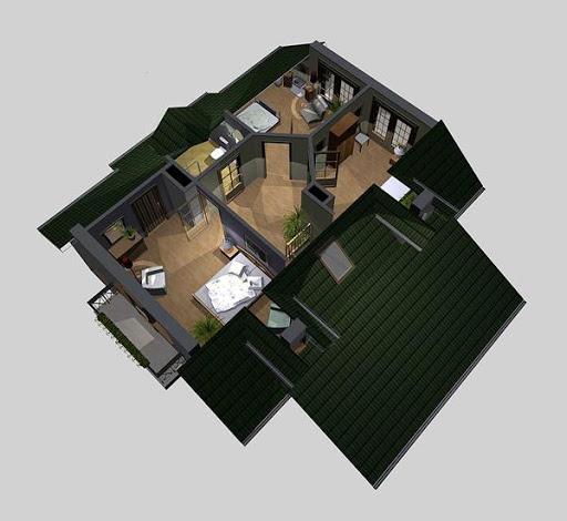 APS 071 - Rzut poddasza 3D