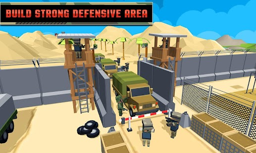 Army Craft: Build & Battle Blocky World Defence - náhled