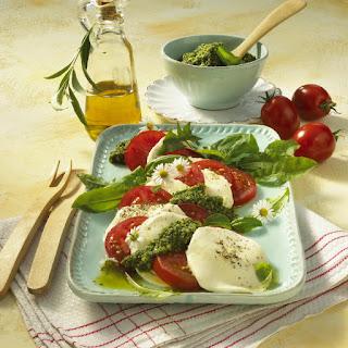 Tomato and Mozzarella Salad with Pesto