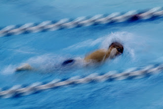 Photo: Starting the relay  A little early with Sunday's #365Project contribution because my son is in the MAC Division III NCAA Championships this weekend, and we'll likely be on the road until the wee hours of Monday AM.  Frank swimming the first 200 yds of the 800 Free Relay. Shot with a 1/5 sec exposure and a 300mm lens.  Curated by +Simon Kitcher and +Susan Porter