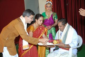 Photo: Felicitation to Sri Bhagavathula Ramamoorthy