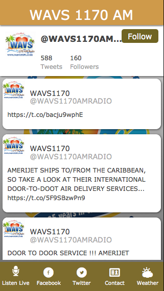 WAVS 1170 AM- screenshot
