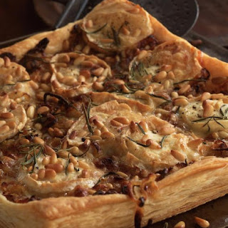 Goat Cheese, Onion and Pine Nut Tart