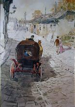 Photo: Tabán, Kereszt utca – Zórád Ernő festménye, a Kós Károly téri galériában