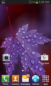 Purple Leaf Live Wallpaper screenshot 2