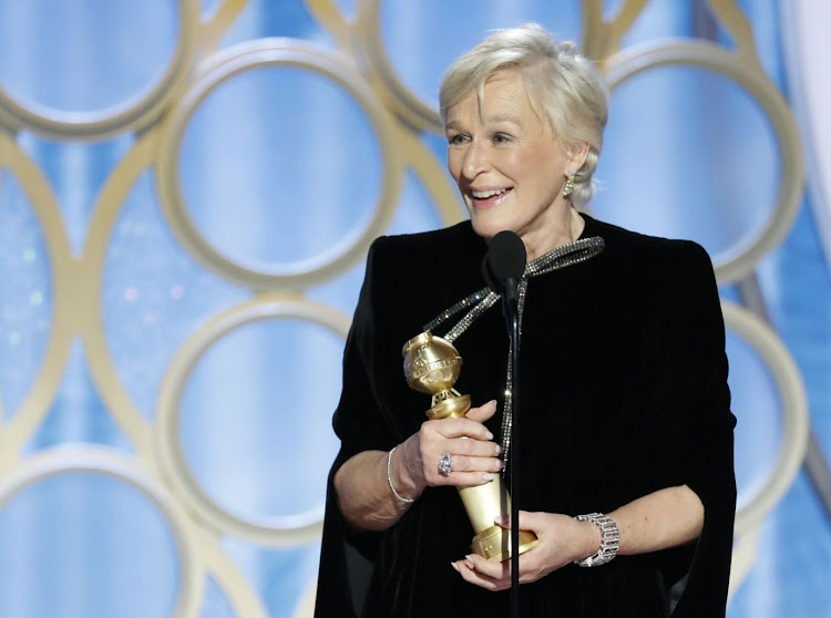 Glenn Close, winner of Best Actress — Motion Picture, Drama, accepts her award at the Golden Globes in Beverly Hills, California, the US, on January 6 2019. Picture: PAUL DRINKWATER/NBC UNIVERSAL/HANDOUT VIA REUTERS