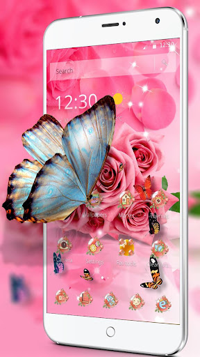 Butterfly Pink Rose Wallpaper By Launcher Love Google Play