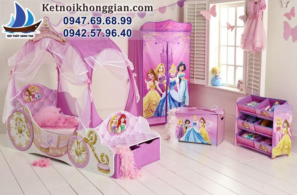 thiết kế phòng ngủ bé gái phong cách công chúa