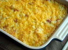 Cheesy Hashbrowns With Ham Recipe
