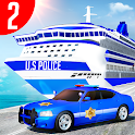 Us Police Car Transporter Truck Driving Simulator icon