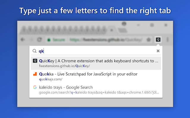 QuicKey – The quick tab switcher