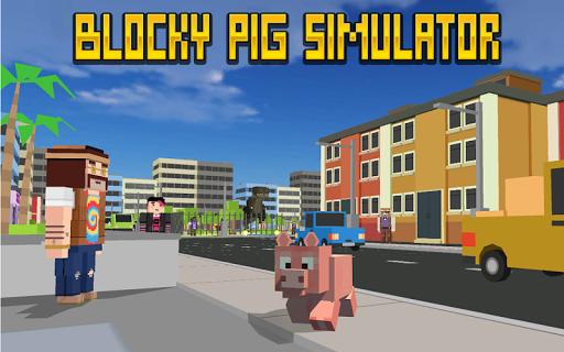 Blocky City Pig Simulator 3D 1.10 screenshots 1