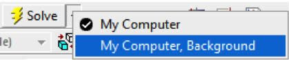 ANSYS В диалоговом окне «Solve Process Settings», показанном ниже, выберите My Computer, Background