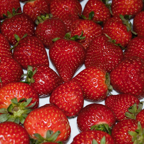 Delicious Strawberries by Maria Epperhart - Food & Drink Fruits & Vegetables ( fruit, red, season, fresh, food, delicious, produce,  )