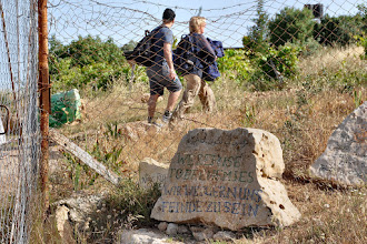 Photo: The famous stone: 'We refuse to be ennemies'