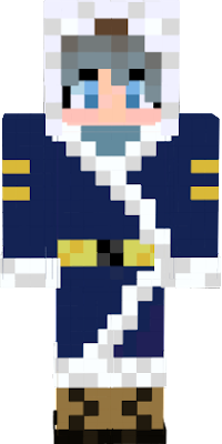 Girl Explorer wearing a fuzzy blue Arctic jacket
