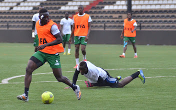 Photo: Alhassan 'Crespo' Kamara  [Training camp ahead of Leone Stars v DR Congo on 10 September 2014 (Pic © Darren McKinstry / www.johnnymckinstry.com)]