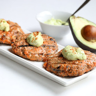 Cajun Salmon Burgers with Avocado Crema