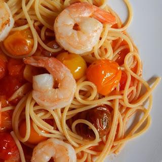 Garlicky Shrimp Pomodoro