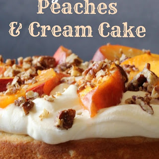 Grilled Peaches & Cream Cake