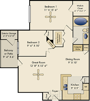 Go to The Derby Floorplan page.