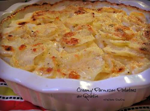"Creamy Parmesan Potatoes Au Gratin ""These creamy potatoes with just a hint..."